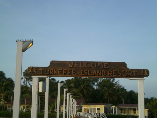 Turneffe Island, Belice: Arrival dock