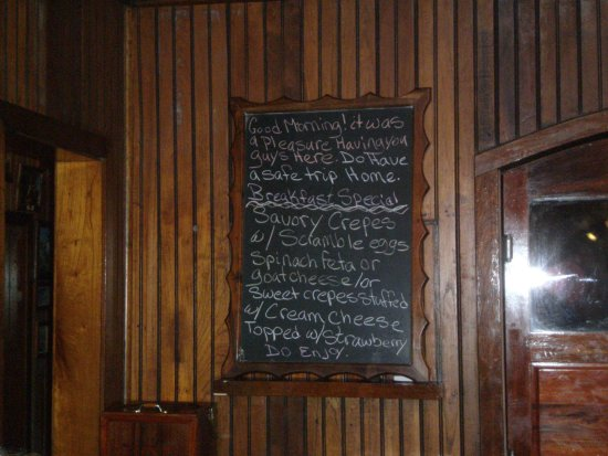 Turneffe Island, Belice: Menu board