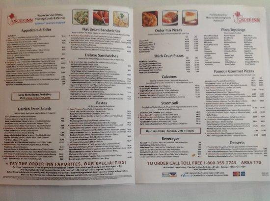San Mateo, CA: Order Inn menu