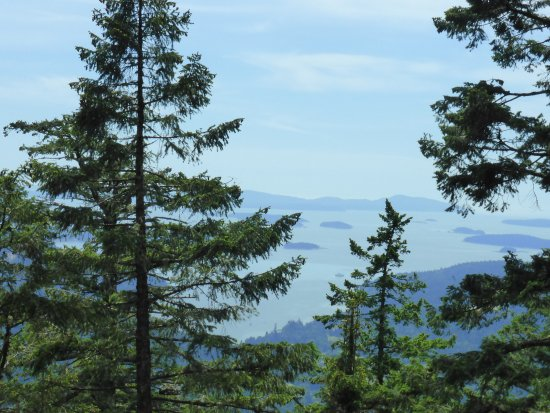 Hedgerow House Bed & Breakfast: View near top of Mt Maxwell over other Gulf Islands.