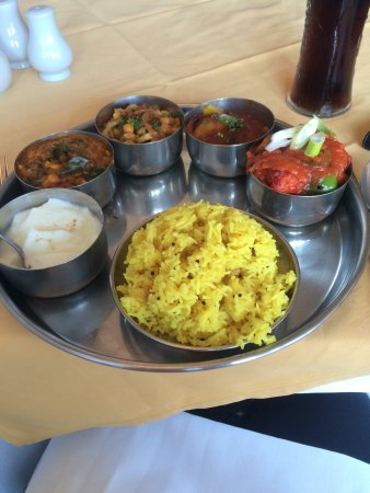 Bengal Palace Restaurant: Vegetarian thali - amazing !! Such a varied menu and great for a gluten free diet.
