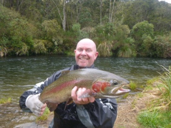 ‪‪Turangi‬, نيوزيلندا: Darryl with a 10lbs beautie from the local river‬