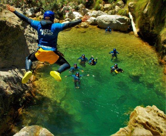 Canyoning in rio verde granada picture of rafting for Tablon verde granada