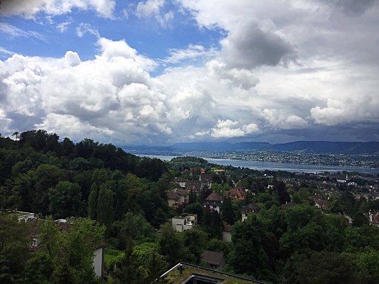Dolder Waldhaus: Aussicht vom Balkon Richtung Zürichsee