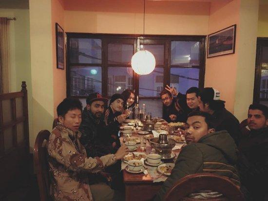 Krua Thai Restaurant : our gang at Krua Thai