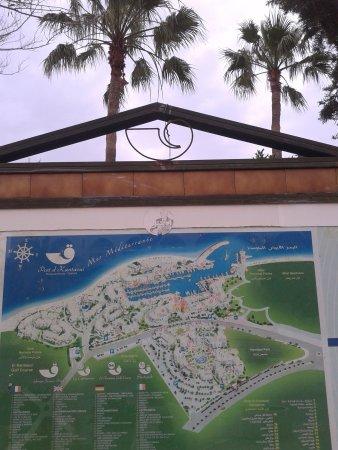 Tunis Governorate, Tunísia: Карта порта Эль-Кантауи.