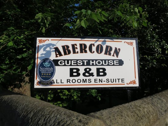 Abercorn Guest House : The sign of the Accomodation