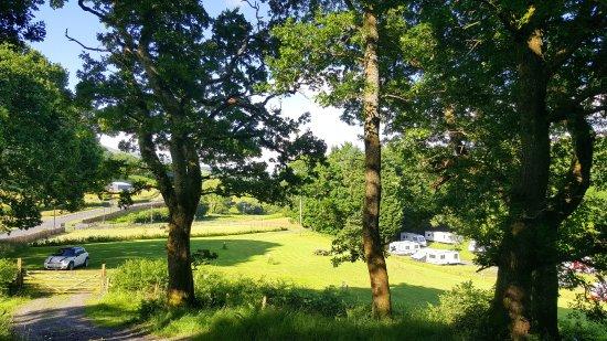 Cefn Crib Caravan Park: View of Cefn Crib campsite