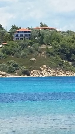 View From Lagonisi Beach To Theoxenia Apartments