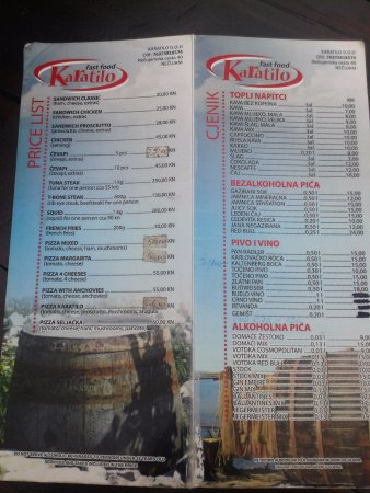 Necujam, Kroatien: menu