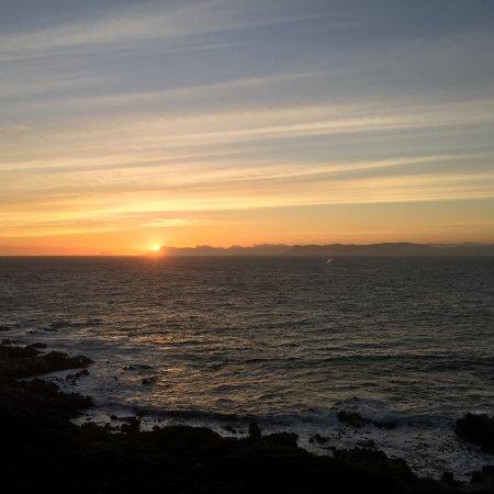 De Kelders, Südafrika: View from the main balcony at sunset.