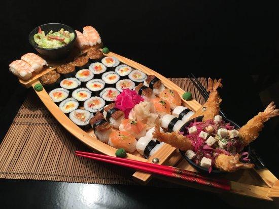 Sushi Boat Picture Of Ocean S Pecs Tripadvisor