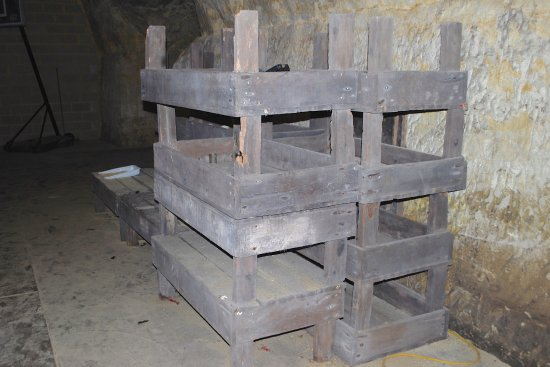 Wabasha Street Caves : Mushroom trays.
