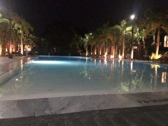 Port Saint Lucie, FL: Main pool at night