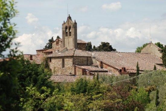 Panzano in Chianti, Italien: L'Église vue de notre hôtel