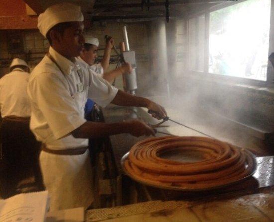 Fresh hot churros