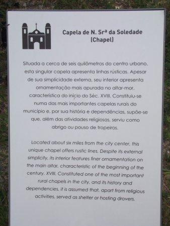 Capela da Cruz (do Sr Bom Jesus): Descritivo histórico