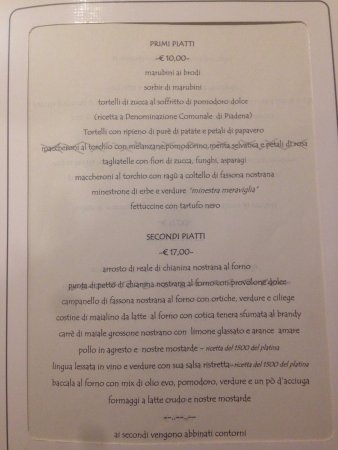 Piadena, Włochy: Menu page 2