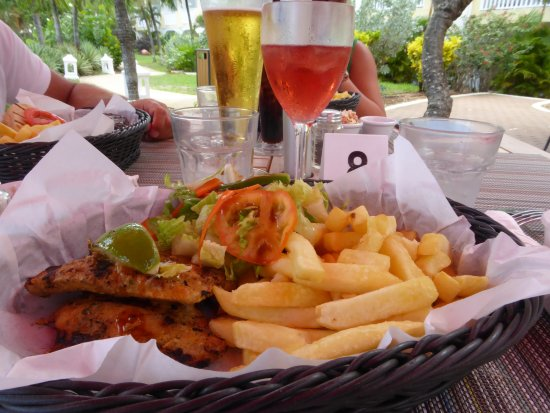 Food in collins beach bar picture of sugar bay barbados for Food bar on church