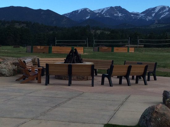YMCA of the Rockies: One of several fire pits in the activity fields area