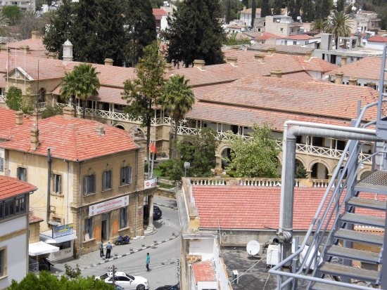 The Dervis Pasha Mansion: Roof top old city,law courts,galleries,British colonial,still in use.