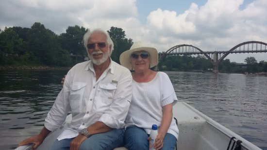 Cotter, AR: Max and LaVerne Gibbs June 19, 2016. Our authentic fishing guide, Greg, snapped this photo.