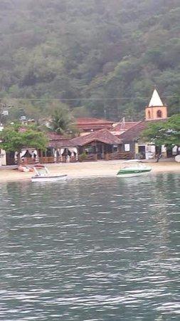 Vista da pousada recreio da praia em Abrão Ilha Grande Rio de Janeiro