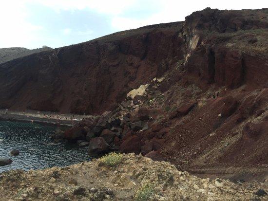 Plaża Red Beach Akrotiri: Path to the beach