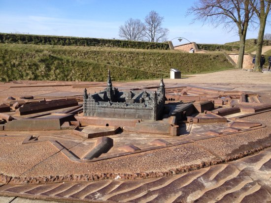 Castle miniture located in front of Kronborg
