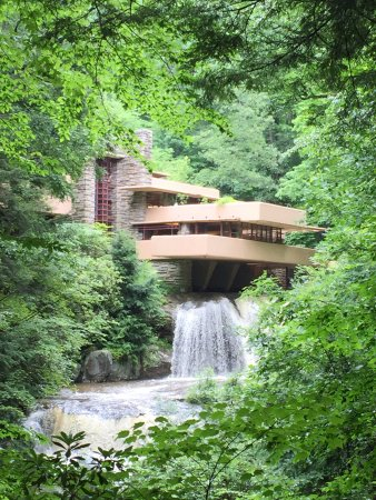 Fallingwater: Water fall through the house, absolutely stunning!
