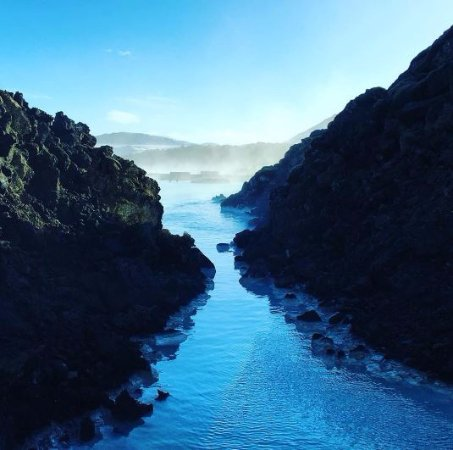 Grindavik, ไอซ์แลนด์: Blue Lagoon - view from restaurant