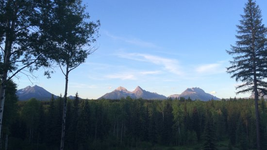 Polebridge, MT: view from the room at sunset