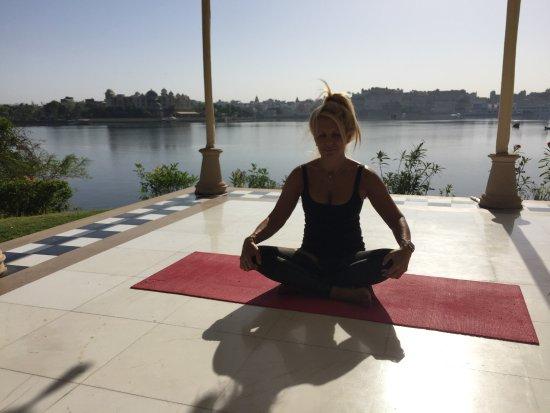 The Oberoi Udaivilas: at yoga tentât oberoi udaivillas