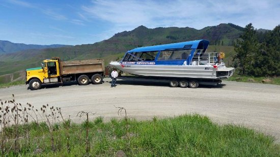 White Bird, ID: Our customers always ask us how we tow the boats into Hells Canyon at the beginning of the seaso