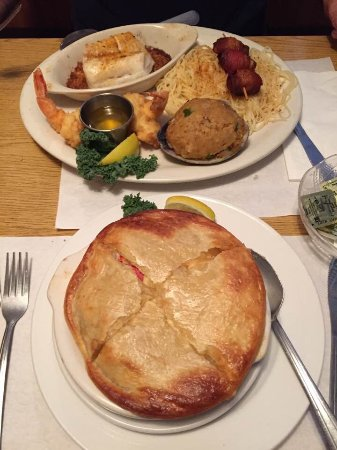 Middleboro, ماساتشوستس: Shellfish pie and seafood special