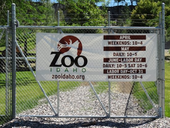 Zoo Idaho: the entrance