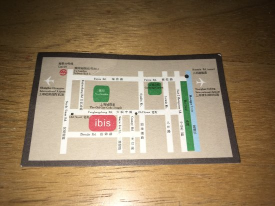 Business card map picture of ibis shanghai yu garden shanghai ibis shanghai yu garden business card map reheart Images