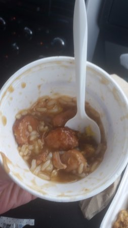 Tony's Seafood: Chicken and Sausage Gumbo..sorry I ate half of it then remembered I needed to take a picture of