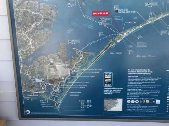 Map of OBX - Picture of Outer Banks National Scenic Byway ...