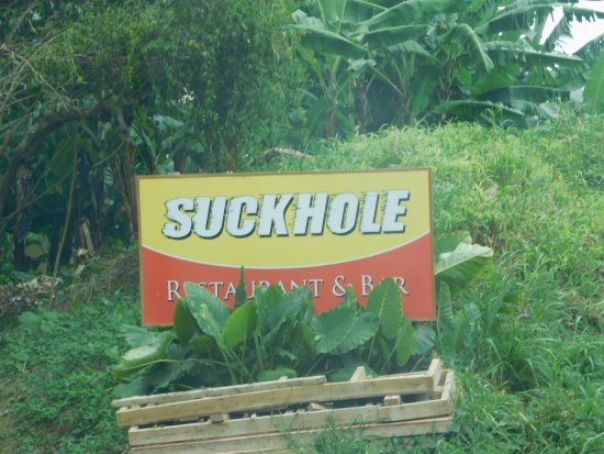 """Suckhole: The sign should read """"The way to great food"""""""