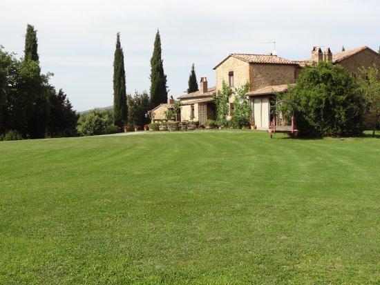 Agriturismo Cretaiole di Luciano Moricciani: Cretaiole - viewed from the vineyard
