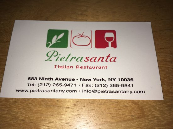 Business card picture of pietrasanta restaurant new york city pietrasanta restaurant business card pietrasanta restaurant pietrasanta italian restaurant colourmoves