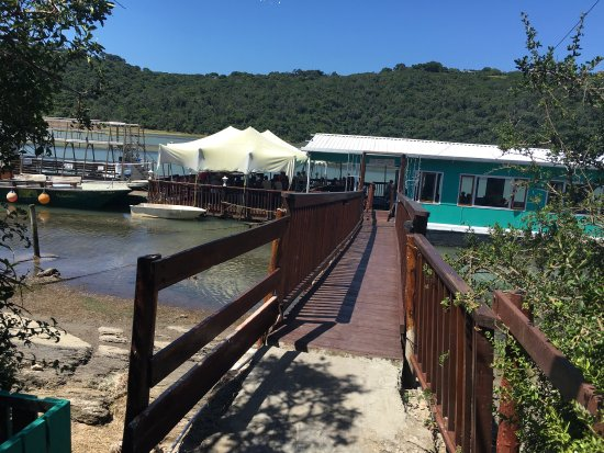Kenton-on-Sea, Sudáfrica: The sandbar floating Restaurant