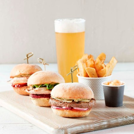 Grill D Healthy Burgers Sliders Trio