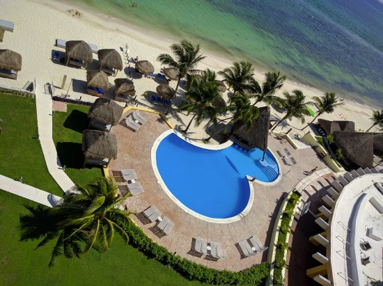 Melia Vacation Cozumel Golf - All Inclusive: Adult pool from the tower