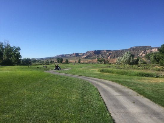 Fruita, CO: First tee on the Mesa Course