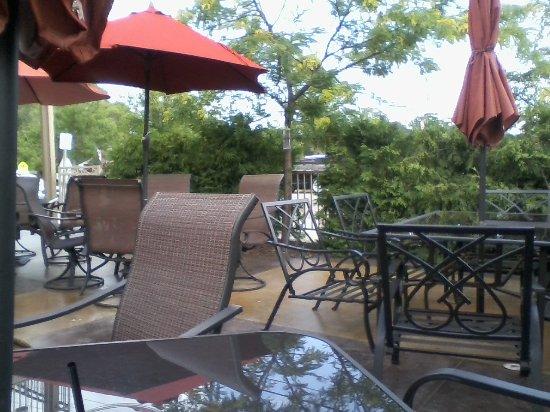 Saint Joseph, MN: A view of the patio.