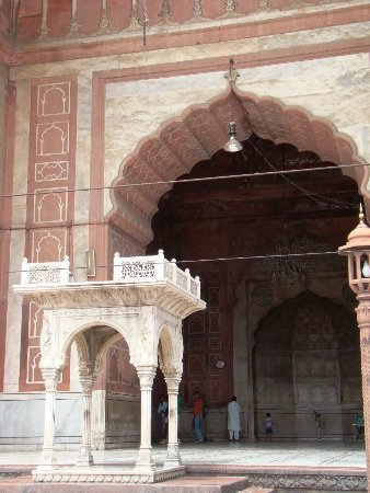 Friday Mosque (Jama Masjid): The outer 'pulpit', which was built a couple of centuries after the rest of the mosque.