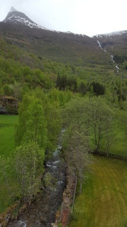"""Hotel Union Geiranger: View out of our room. The desk clerk said, """"I am sorry but you don't have much of a view..."""" Wha"""