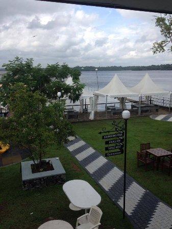 Moratuwa, Sri Lanka: View of lake from room.